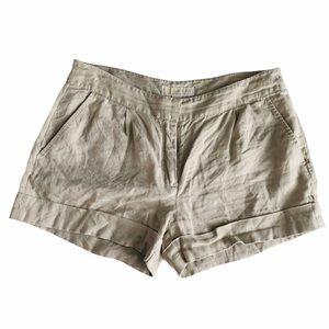 Michael Kors Linen Beige Shorts